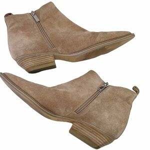 MARC FISHER Obrra Natural Suede Western Boots - 8